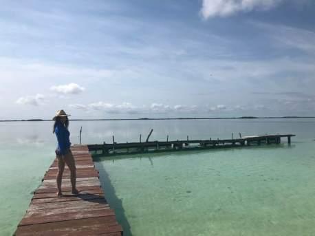 Tulum Pier lagoon
